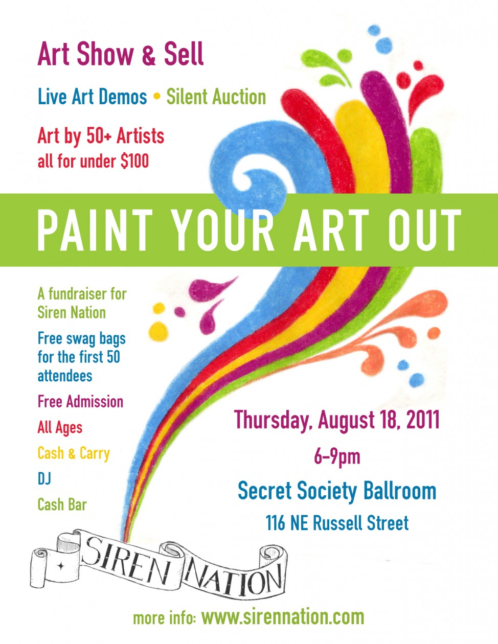 2011 Paint Your Art Out: August 18th