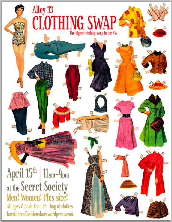 Alley 33 Clothing Swap Fundraiser