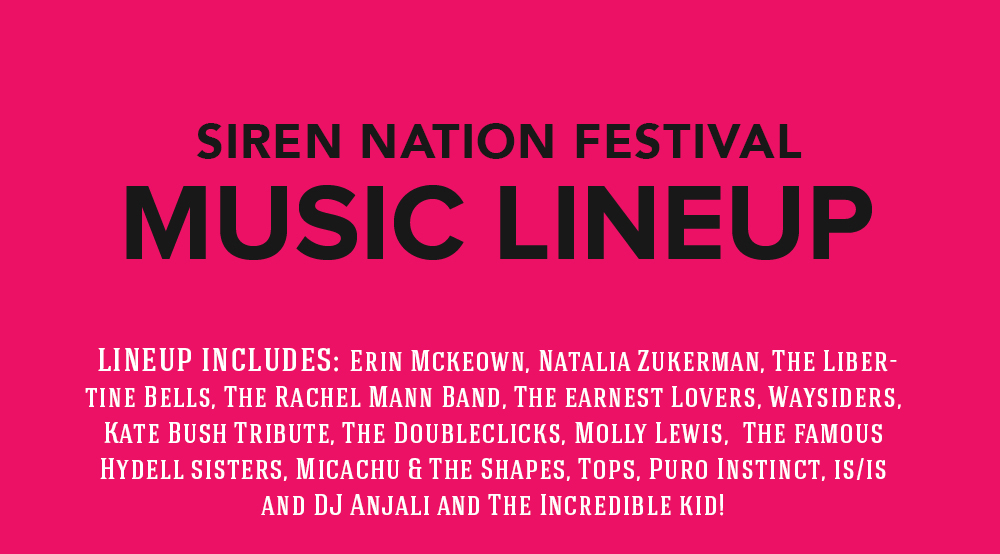 2015 Siren Nation Festival Music Lineup!