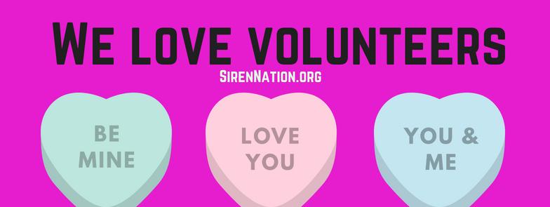 Volunteer with Siren Nation!