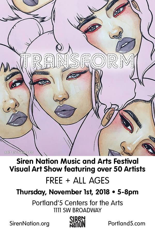 Event: Siren Nation's 12th Annual Visual Arts Show: TRANSFORM!
