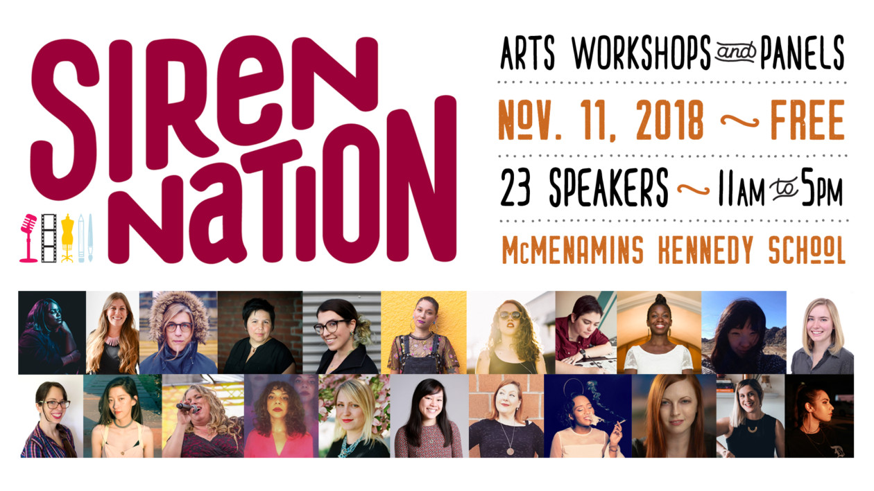 2018 Siren Nation Arts Workshops & Panels (Free)