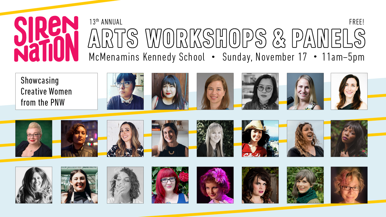 Siren Nation Arts Workshops & Panels / Nov. 17 / Kennedy School